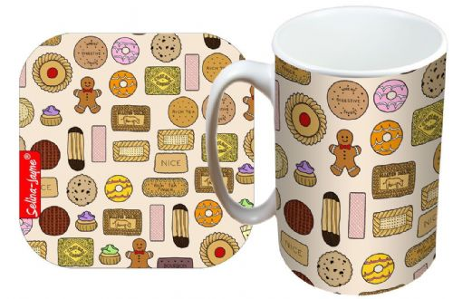 Selina-Jayne Biscuits Limited Edition Designer Mug and Coaster Gift Set